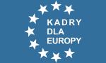 """Logo: Wyższa Szkoła Zawodowa """"Kadry dla Europy"""" - Poznań"""